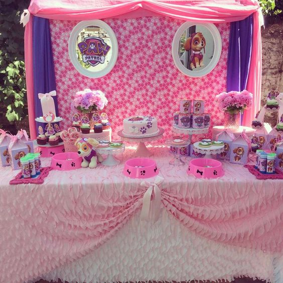 Fiesta infantil de paw patrol para ni a - Ideas para decorar mesas de chuches ...