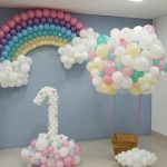 Decoración de nubes para fiestas