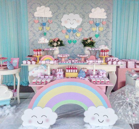 Decoraci n de nubes para fiestas decoracion de fiestas cumplea os bodas baby shower bautizo - Decorar bar barato ...
