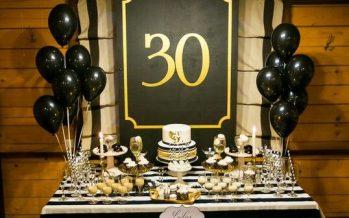 Decoración para cumpleaños numero 30 – hombre