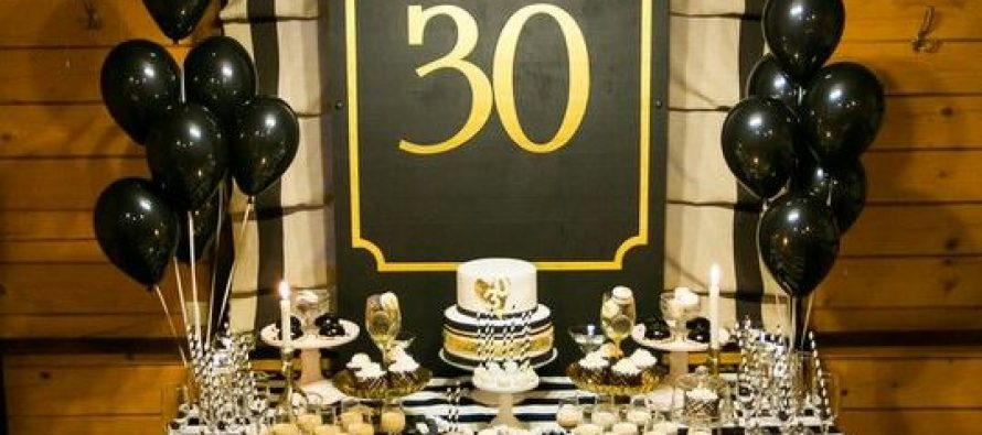 Decoracion para cumpleao ideas para hacer centros de mesa for Decoracion 30 cumpleanos