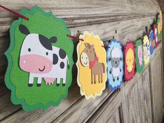 Decoración de la granja de Zenon para cumpleaños, fiestas infantiles