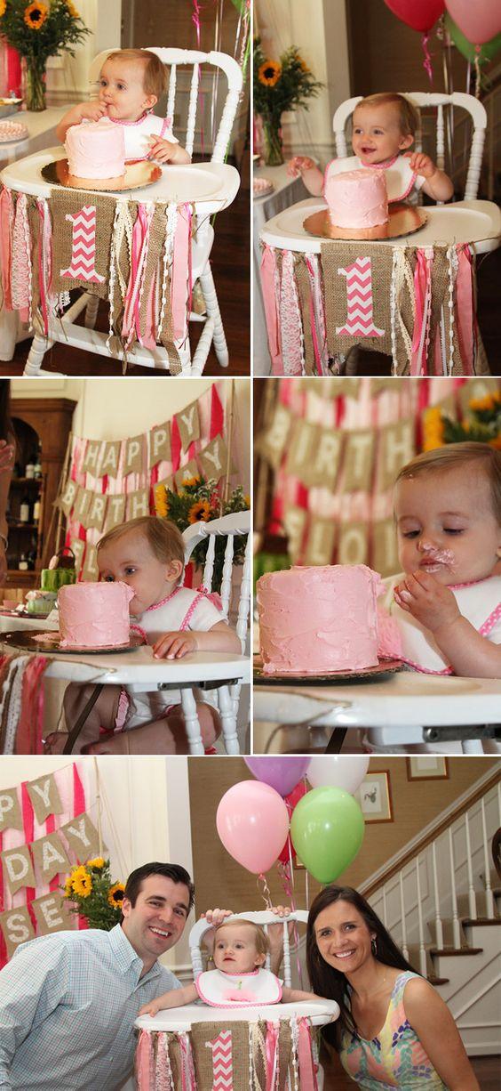 Ideas para celebrar el primer año de tu hija en casa en fotos