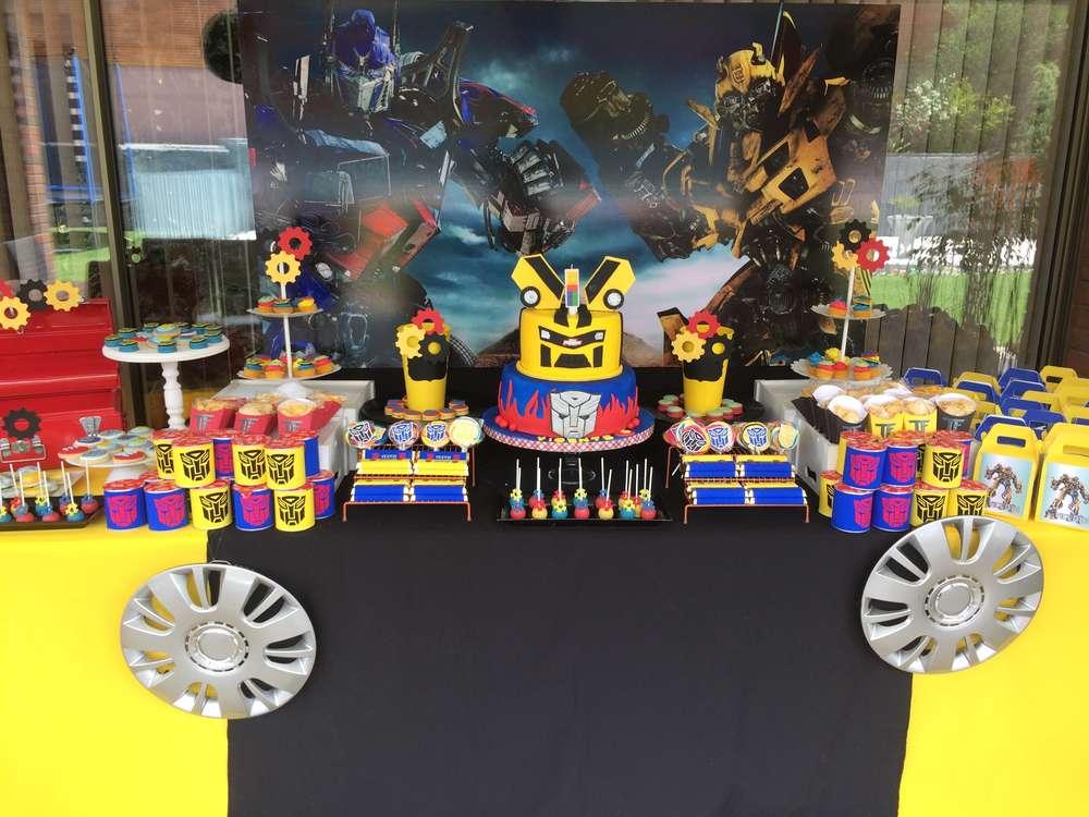 Ideas para decorar un cumplea os con transformers - Adornos para una fiesta de cumpleanos ...