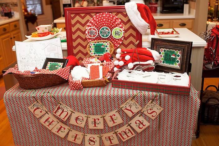 Decoración de una fiesta de Cumpleaños para Navidad