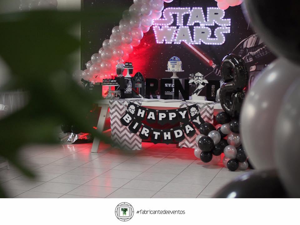 Decoración de un cumpleaños de Star Wars