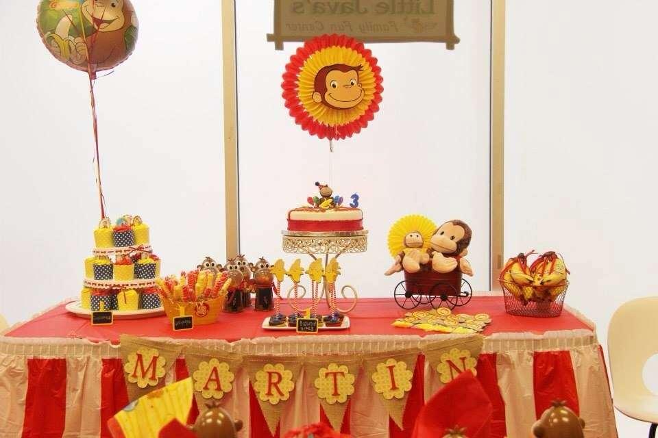 Decoracion de jorge el curioso para cumpleanos infantiles - Decoracion cumpleanos infantil casera ...
