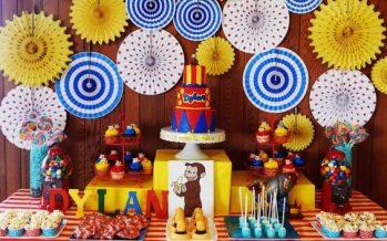 Decoración de Jorge el Curioso para cumpleaños infantiles