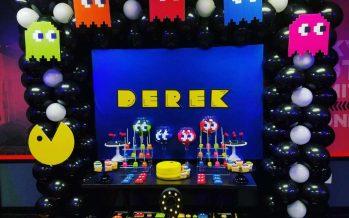 Decoración de Pacman para cumpleaños