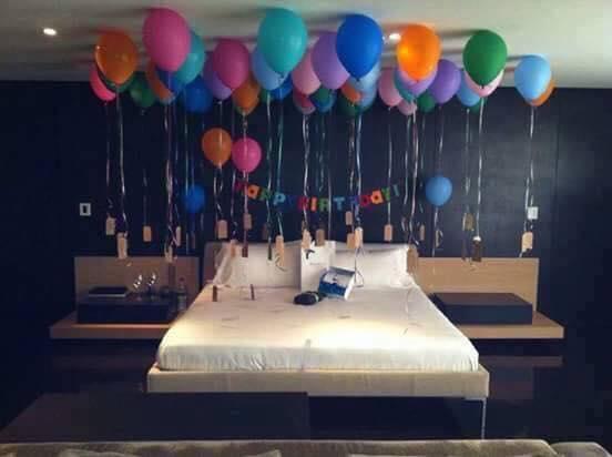 Sorpresas de cumpleanos originales para tu pareja 4 for Cuartos decorados romanticos con globos