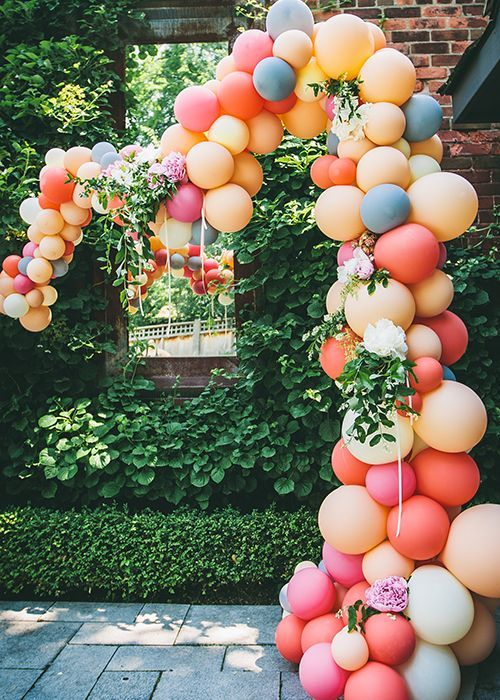 balloon arch for the entry of a ays nina (4)
