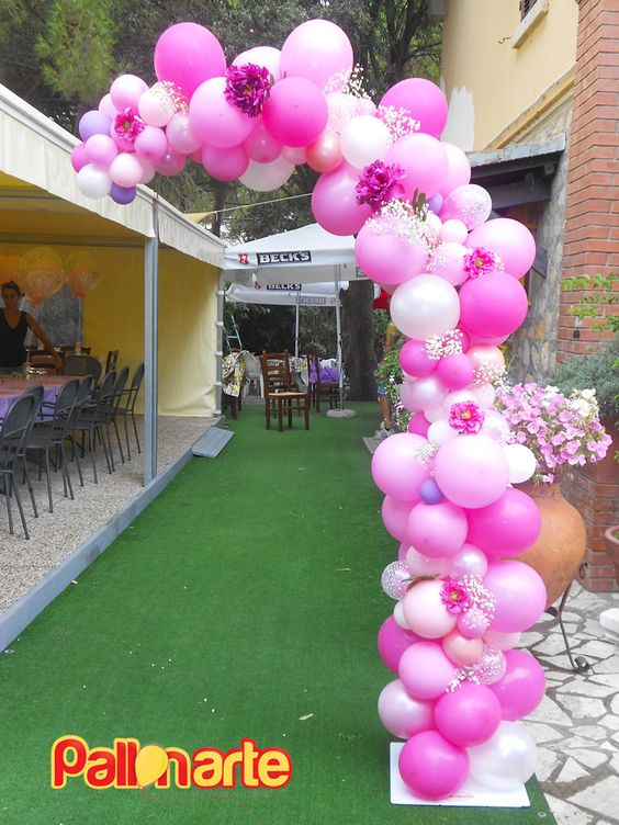 balloon arch for the entry of a ays nina (5)