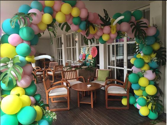 balloon arch for the entry of a ays nina (6)