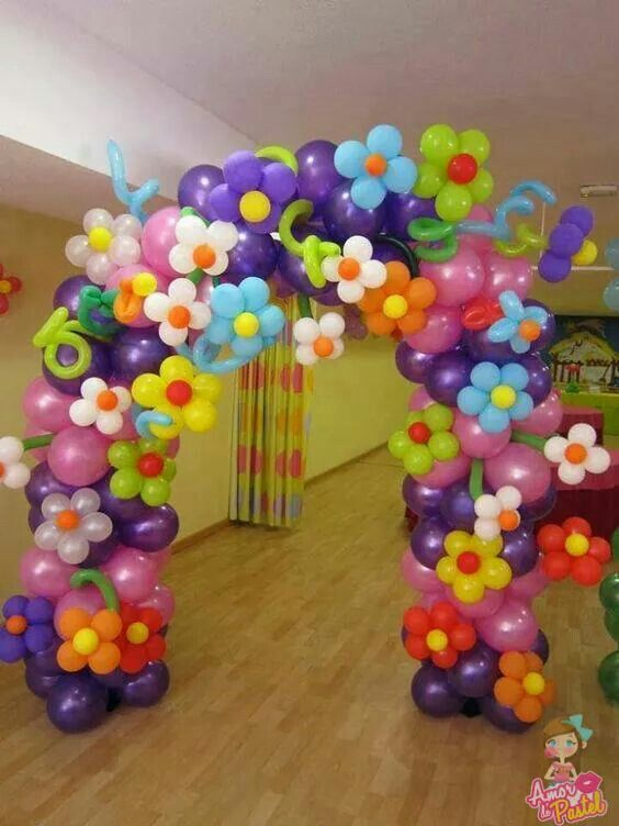balloon arch for the entry of a ays nina (7)