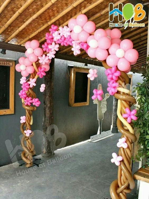 balloon arch for the entry of a ays nina (8)