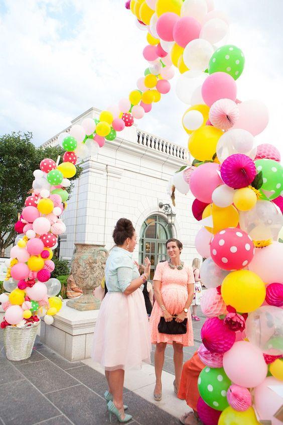 arco de globos para la entrada a una fiesta de nina (1)