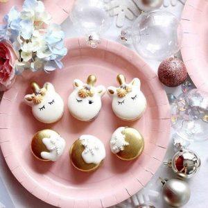 bocadilllos y galletas para mesa de postres fiesta unicornio (8)