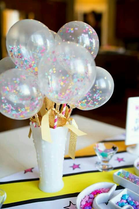 centro de mesa con globos para fiesta unicornio (2)