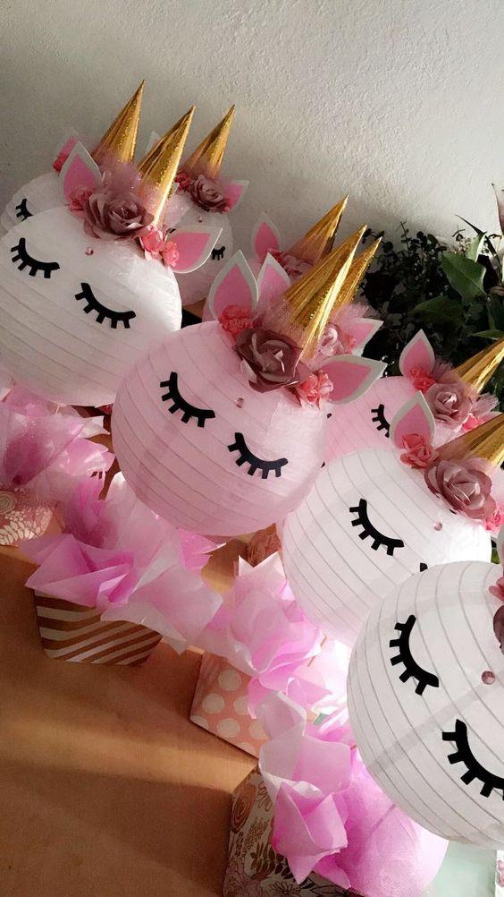 centros de mesa para fiesta de unicornio