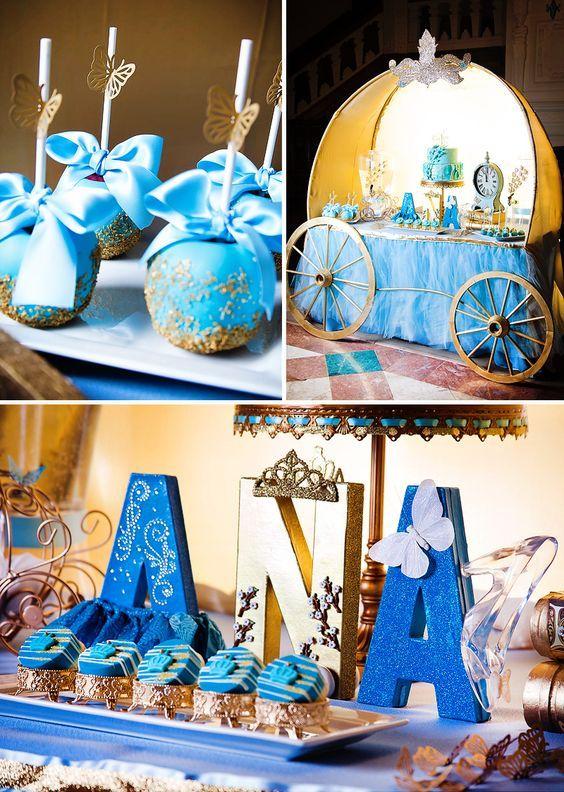 como decorar mesa de dulces tema cenicienta