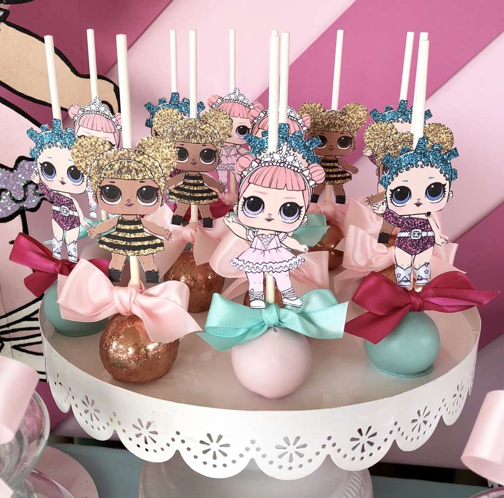 How to decorate a birthday party for nina lol dolls (2)