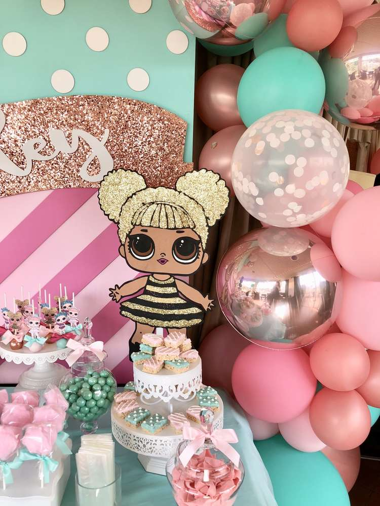 How to decorate a birthday party for nina lol dolls (3)