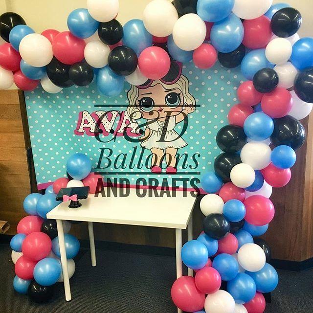 decoracion con globos fiesta nina tema munecas lol (2)