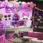 decoracion con globos fiesta nina tema munecas lol (4)