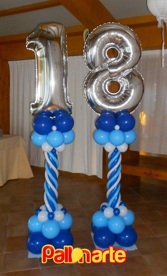 decoracion con globos para 18 anos