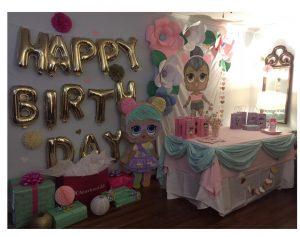 decoracion de la entrada fiesta munecas lol