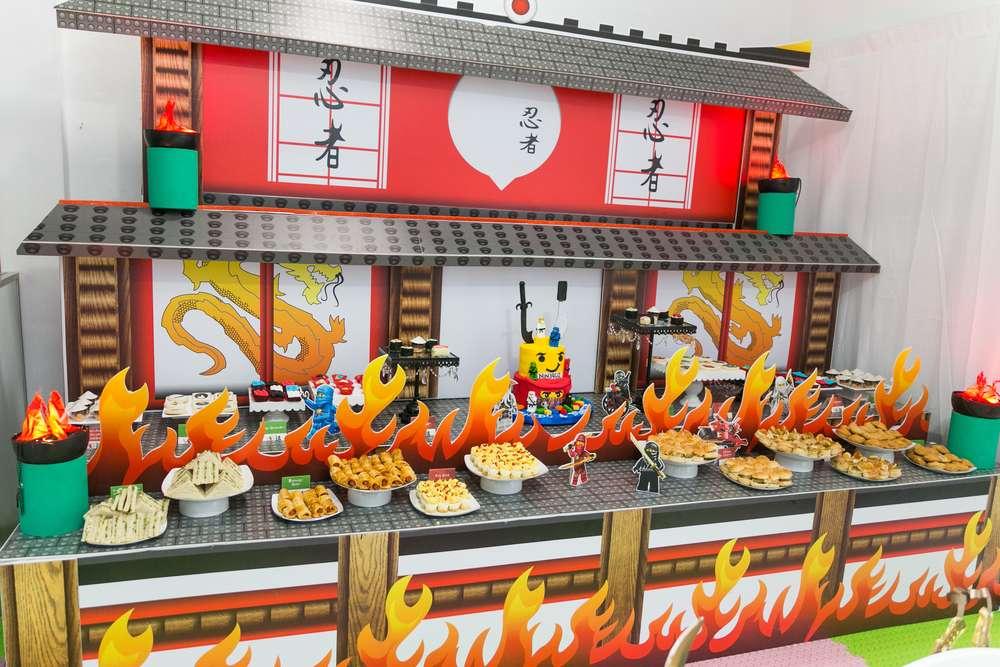 Fiesta Infantil The Lego Ninjago Decoracion De Cumpleanos De Ninja