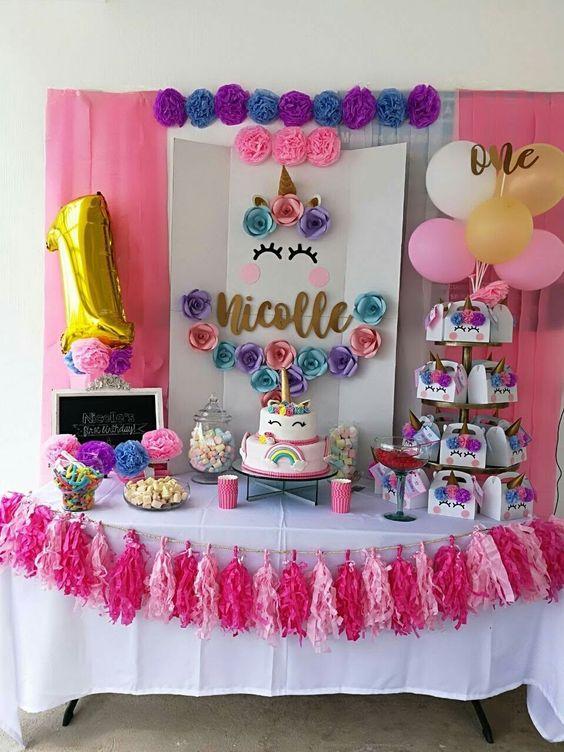 fiestas infantiles de unicornio para ni a con ideas incre bles
