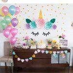 decoracion de mesa principal fiesta de unicornio (4)