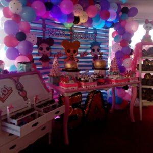 decoracion general para una fiesta de nina munecas lol (4)
