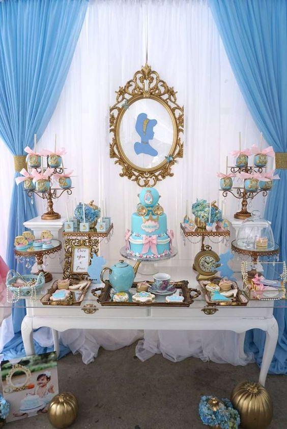 decoracion mesa principal fiesta de cenicienta (3)