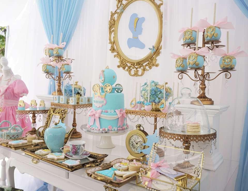 decoracion mesa principal fiesta de cenicienta (8)