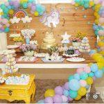 decoracion mesa principal fiesta unicornio bebe (2)