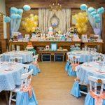 decoracion mesaa principal tema cenicienta con globos