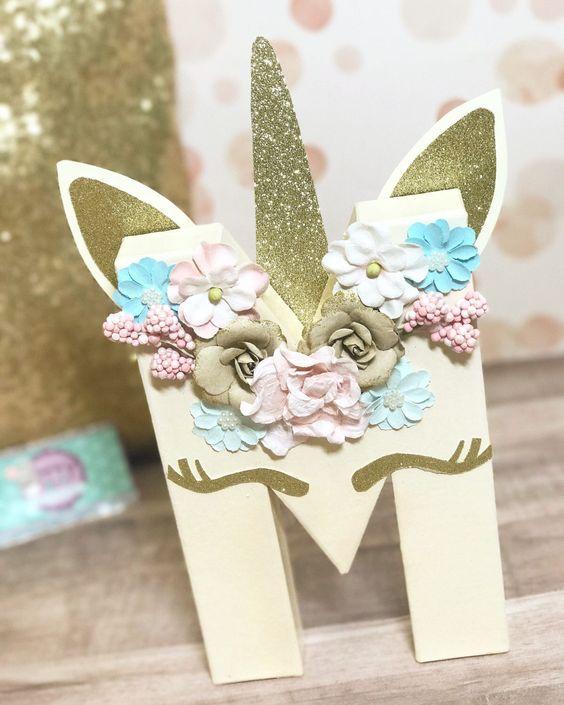 detalles personalizados para fiesta de unicornio