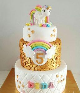 diseno de pasteles de unicornio
