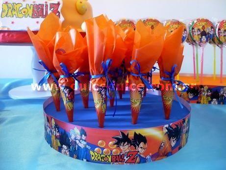 dulceros de goku para fiestas infantiles