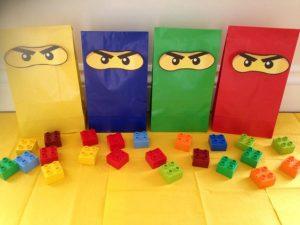 dulceros para fiesta con tema de ninjago
