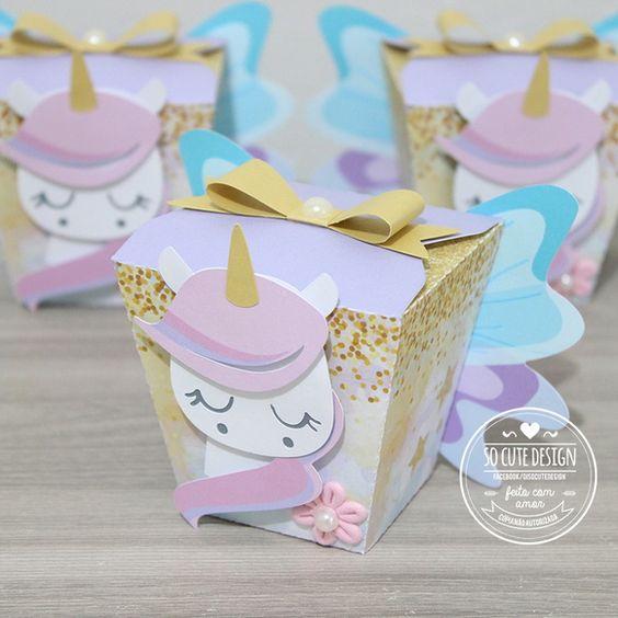 dulceros para fiesta de unicornio
