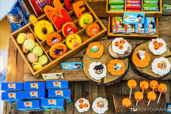 dulces para fiesta de goku