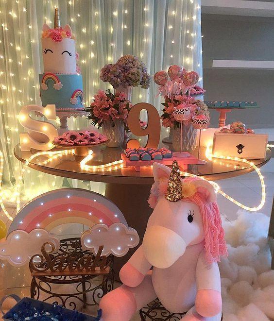 Fiestas infantiles de unicornio para ni a con ideas incre bles for Decoracion para pared de unicornio
