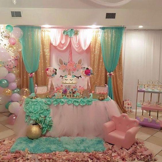Fiestas infantiles de unicornio para ni a con ideas incre bles for Diseno de mesa de unicornio