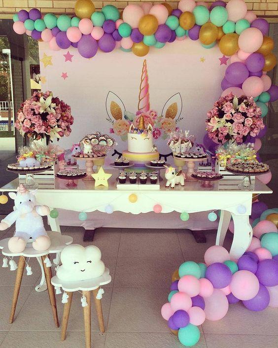 fiestas infantiles de unicornio
