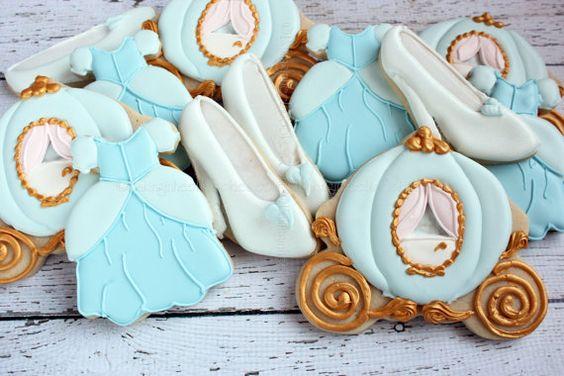 galletas de cenicienta para mesa de postres