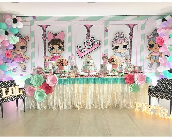 ideas to accommodate dessert table party girl (3)