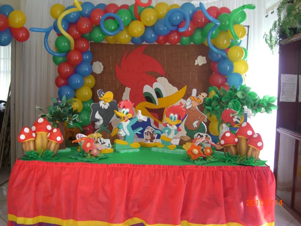 Ideas para decorar una fiesta del pajaro carpintero - Adornos para una fiesta de cumpleanos ...